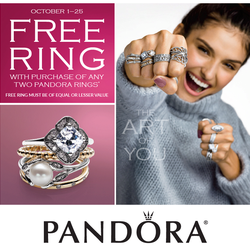 Pandora 'Buy 2, Get 1 Free' Ring Event! October 1-25