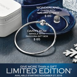Pandora Black Friday Promotions!
