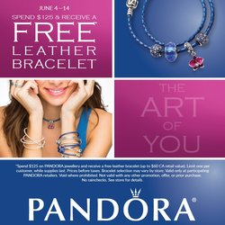 June 4th-14th: Free Pandora Leather Bracelet Event