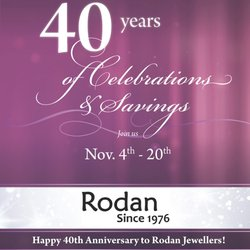 Rodan's 40th Anniversary Celebration! November 4th - 20th