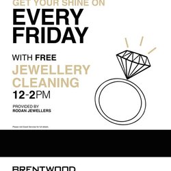 Free Jewellery Cleanings Every Friday! 12-2pm