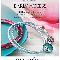 June PANDORA Free Leather Bracelet event PRE-SALE