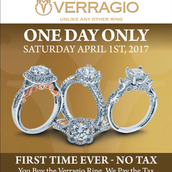 Verragio Bridal Weekend - April 1st