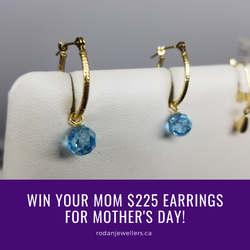 Win Mom earrings for Mother's Day!